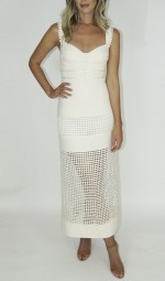 Vestido Off White com Renda