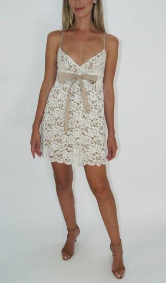 Vestido Renda Off White