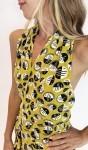 Vestido Amarelo Estampado