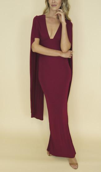 Vestido Capa Vinho