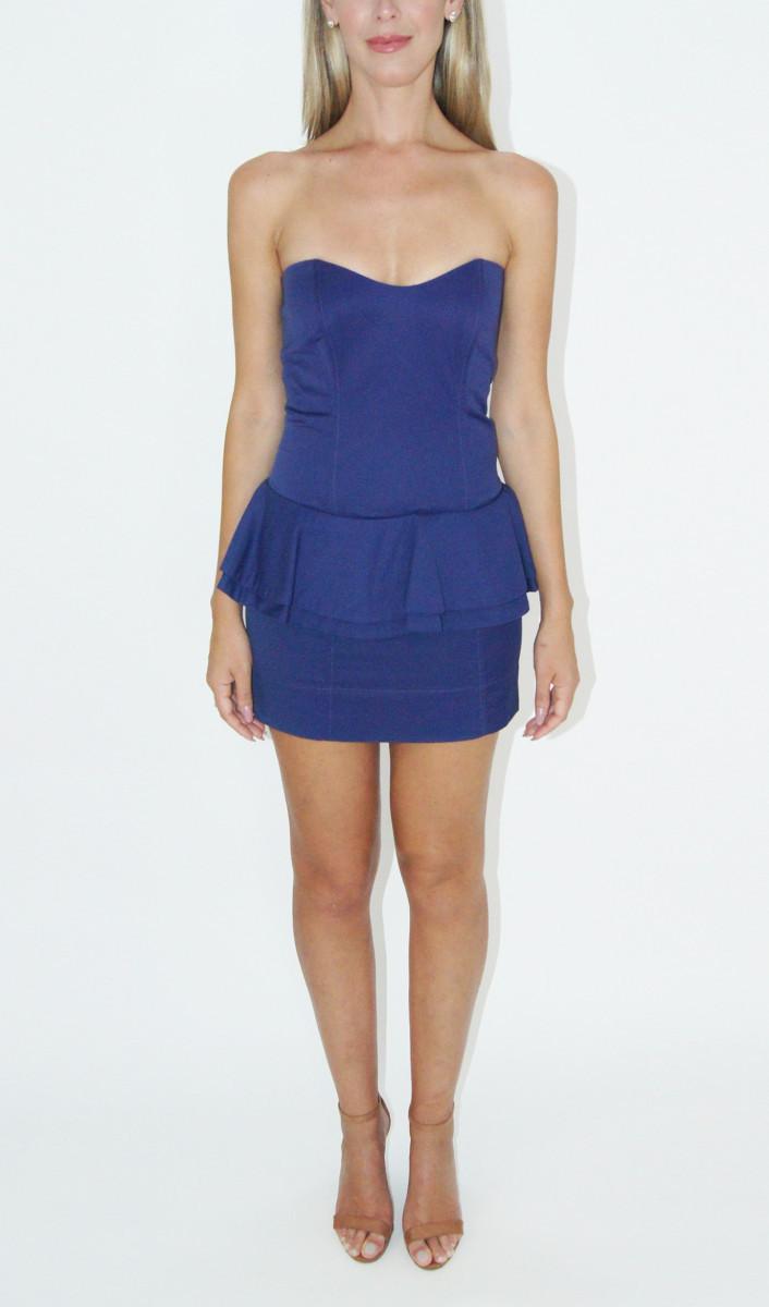Vestido Azul Peplum