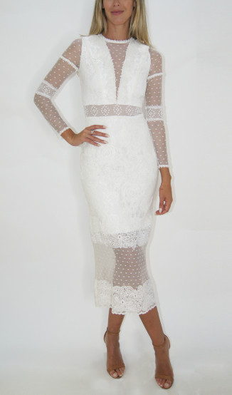 Vestido Branco Poá