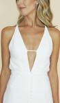 Vestido Longo Branco Decote