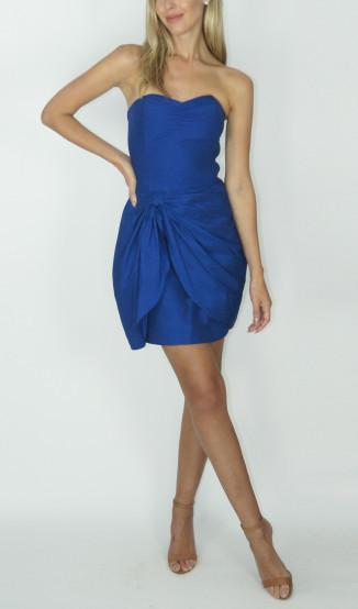 Vestido Azul Tomara que Caia