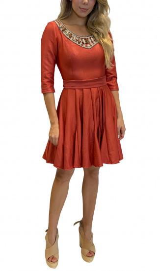 Vestido Coral Rodado