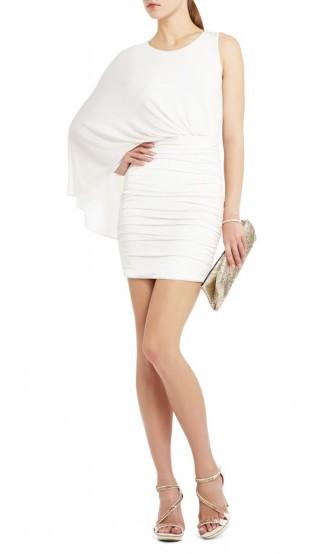 Vestido Um Ombro Branco