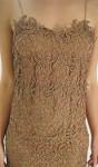Vestido de Renda Bronze