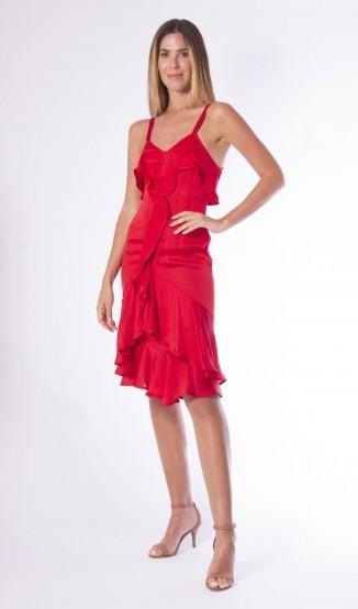 Vestido Vermelho YSL