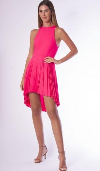 Vestido Rosa Pink Plissado