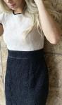 Vestido Bicolor de Renda