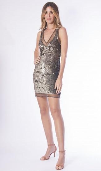 Kelly Piquet Vestido Paetê