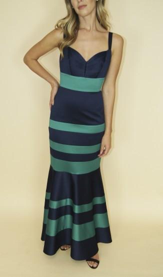 Vestido Sereia Bicolor