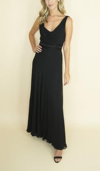 Lele Saddi Vestido de Seda Drapeado