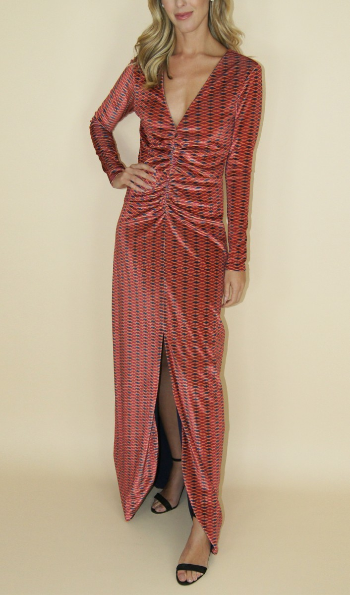 Stephanie Garcia Vestido Hunos Estampado