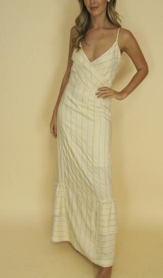 Stephanie Garcia Vestido com Babados na Barra