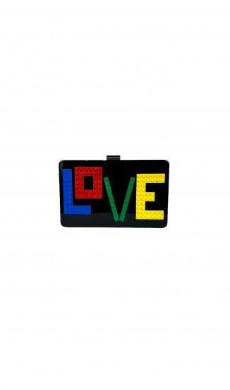 Clutch Andy Rainbow Love Acrílico