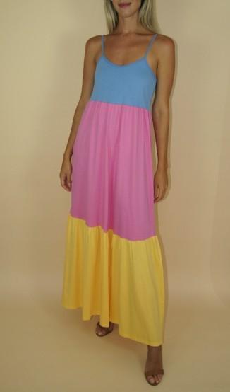 Lu Dangelo Vestido Tricolor