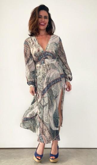 Giovanna Antonelli Vestido Estampado